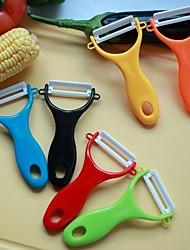 1pcs usine fournitures cuisine vente de restauration en céramique couteau éplucheur 2 pouces couleur grand économe de bonbons en céramique