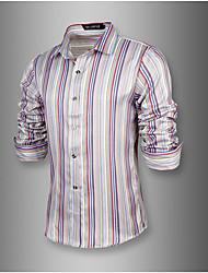 Chemises informelles ( Coton ) Vintage/Informel/Soirée/Travail Manches longues pour Homme