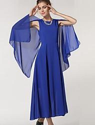 Women's Fashion Solid Color Chiffon Maxi Dress (More Colors)
