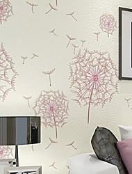 10m*0.53m 3D Pile Coating Thickening Wallpaper Dandelion Breathe Freely  Environmentally Friendly Z178
