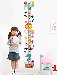 Wall Stickers Wall Decal Cartoon Animals Height Removable Washable PVC