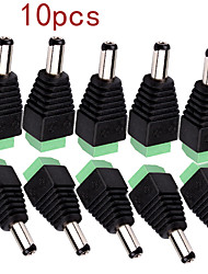 10Pcs  DC Power Male Jack to 2 Conductor Screw Down Connector for LED Light Controller