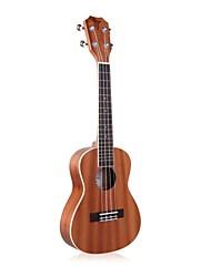 """tom 23 ukulele """"concerto acústico de mogno com corda aquila"""