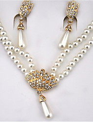 Women's Imitation Pearl 2pcs Jewelry Sets