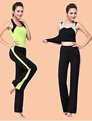 Damen Yoga Anzüge Ärmellos Rasche Trocknung / antistatisch / wicking / Antibakteriell Hellgrau / Hellgrün Yoga S / M / L / XL