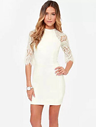 AMUWomen's Sexy Long Sleeve Dresses (Cotton)