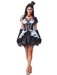 Costumes - Vampire - Féminin - Halloween - Robe/Gants/Chapeau