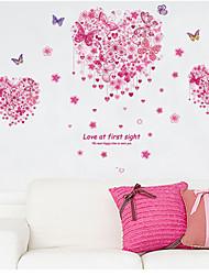 l'amore adesivi murali piano camera da letto a farfalla