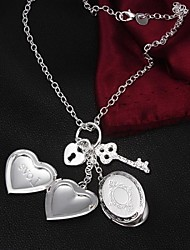 Hot Sale  Fashion Europe and America Love photo frame Chain  Necklaces