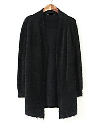 Abrigo ( Tejidos/Pelo Artificial ) Largo - Casual - Medio - Mangas largas