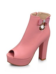 Women's Shoes Peep Toe Chunky Heel Ankle Boots More Colors available