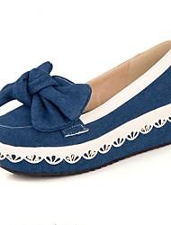 Bombas / Tacones ( Azul/Azul marino Zapatos con plataforma/Plataforma/Dedo redondo - Tacón Cuña - Vaqueros - para MUJERES