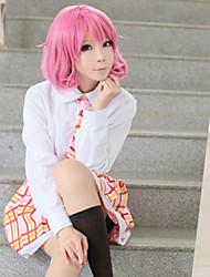 Noragami Ebisu Kofuku Pink Short Cosplay Wig