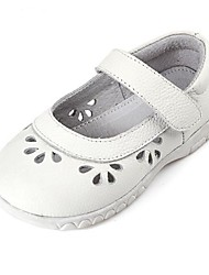 Girls' Shoes Casual Comfort Leather Flats Pink/White/Silver