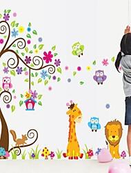 adesivos de parede parede decalque colorfull árvore pvc removível e lavável