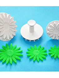 Four-C afrique daisy / tournesol fondant gâteau décoration coupeurs de plongeur, coupe Sugarcraft, des outils de décoration de gâteau