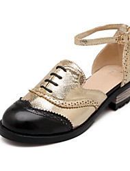 Women's Shoes Low Heel Comfort/Round Toe Pumps/Heels Office & Career/Dress Silver/Gold