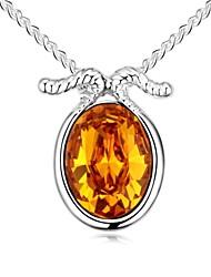Zodiac Capricorn (Smile) Short Necklace Plated with 18K True Platinum Smoked Topaz Crystallized Austrian Crystal Stones