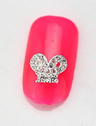 Fashion 10PCS RG092 Zircon 3D Alloy Nail art Decoration Diamond Nail Salon Supplier DIY Accessories Nail Decals