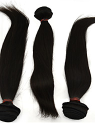 "3Pcs /Lot +10""-28""Brazilian Hair Extensions Human Natural Black Heat Resistant Straight Unprocessed Hair"