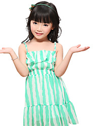 Girl's Chiffon Dress , Summer Sleeveless