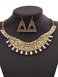 Women's Necklace Suit Fashion Vintage Luxurious Pendant Necklace+Rings