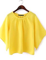Women's Black/Yellow Blouse Short Sleeve