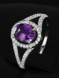 Bagues pour Première Phalange Zircon cubique Argent sterling Zircon Mode Elegant Argent Violet Bijoux Soirée 1set