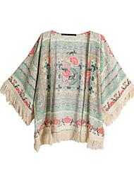 Women's Cape T-Shirts , Cotton Print ½ Length Sleeve SASA
