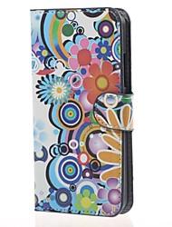 Pour Coque Nokia Portefeuille Porte Carte Avec Support Coque Coque Intégrale Coque Fleur Dur Cuir PU pour Nokia Nokia Lumia 640