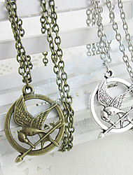 The Hunger Games Mocking bird Necklace Pendant Necklaces (Gold,Silver)(1pc) Christmas Gifts