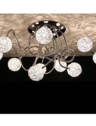 Artistic Aluminum Flush Mount Lights With 10 Lights