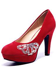 Women's Shoes Platform Heels/Comfort Pumps/Heels Wedding/Outdoor/Office & Career/Dress/Casual Black/Blue/Yellow/Purple