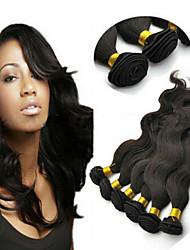 "3Pcs/Lot Brazilian Human Virgin Hair, Unprocessed Body Wavy Hair Weft 8""-34"" full stock by DHL"