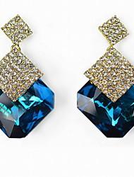 Earring Drop Earrings Jewelry Women Gemstone & Crystal / Alloy / Rhinestone 2pcs Blue / Green