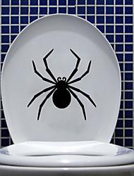 adesivos de parede decalques da parede, aranha preta de parede do banheiro decoração mural pvc etiquetas