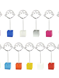 Place Cards and Holders Color Cube Stand Hand Wire Place Card Holder Photo Memo Clip