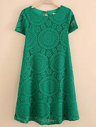 Women's Plus Short Sleeve A-Line Dress