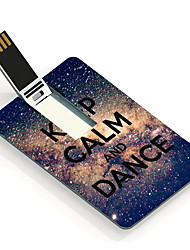 64GB Keep Calm and Dance Design Card USB Flash Drive