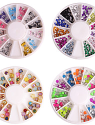4Pcs* 4 Types of Mixed Manicure Diamond Shining Nail Art  Decoration kits