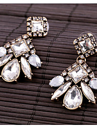 Masoo Women'Fashion Popular Crystal Geometric Earrings
