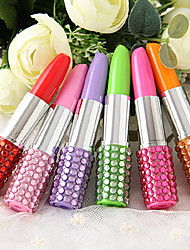 Zircon Lipstick Pattern Blue ink Ballpoint Pen (Random Colors)