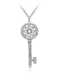 HUALUO®Round Diamond Key Necklace