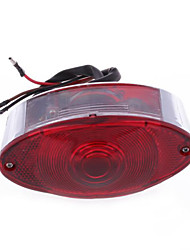 Motorcycle Bike Tail Rear Brake Light Lamp DC 12V Red Cats Eye