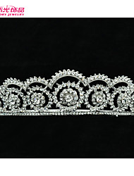 Neoglory Jewelry Delicacy Clear Rhinestone Flower Tiara Crown Hair Accessories for Lady's/Bridal/Wedding