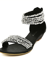 Women's Shoes Wedge Heel Peep Toe Sandals with Rhinestone Shoes More Colors available