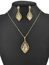 Women's European and American fashion major suit Earrings Necklace Set(1 set)8586-12