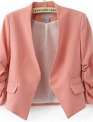 Women's Casual Thin Long Sleeve Short Blazer (Cotton Blends) More Colors