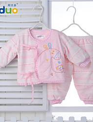 Newborn Baby Girls Boys Cartoon Pure Cotton Tops Pants Infant 2 pieces Bodysuit