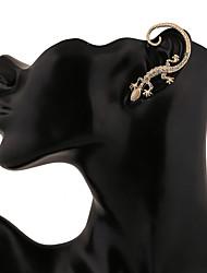Opal Diamond Gecko Earrings
